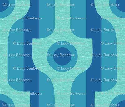Mod wallpaper in blues