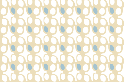 Wacky Moroccan (cream + smokey sky) fabric by pattyryboltdesigns on Spoonflower - custom fabric