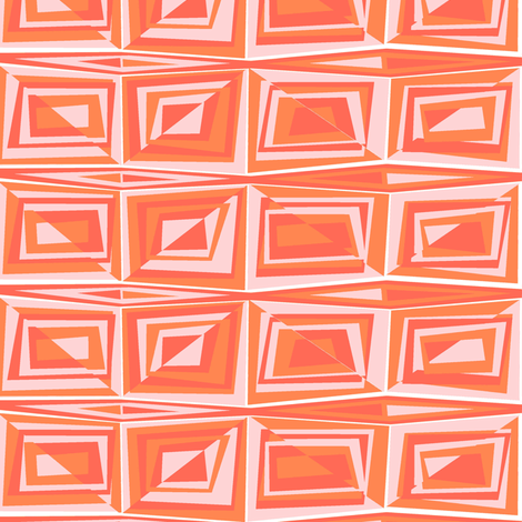 newmodorangepink fabric by meg56003 on Spoonflower - custom fabric