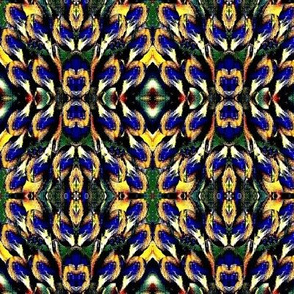 floral blue and yellow flower mofit-3