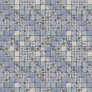 beaded tiles blue ice