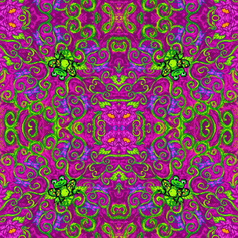 marzlene_happy_frog-ed fabric by marzlene'z_eye_candy on Spoonflower - custom fabric