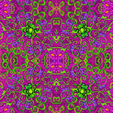 marzlene_happy_frog-ed fabric by marzlene'z_eye_candy on Spoonflower - custom fabric