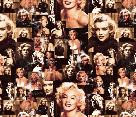 Marilyn Monroe Sepia & Distressed fabric by lusyspoon on Spoonflower - custom fabric