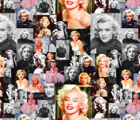 marilyn monroe saturated & distressed fabric by lusyspoon on Spoonflower - custom fabric