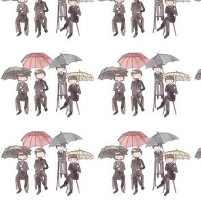 Umbrella Beatles cartoon