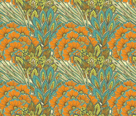 Oriental ornament. fabric by veraholera on Spoonflower - custom fabric