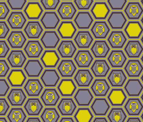 honeycombowl_DesignaPalette fabric by designapalette on Spoonflower - custom fabric