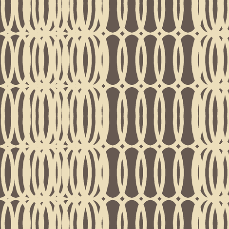 mod fab(cream + chocolate) fabric by pattyryboltdesigns on Spoonflower - custom fabric