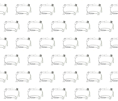 Stitching Sheep fabric by notforgottenfarm on Spoonflower - custom fabric