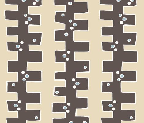 Mod 'drop box' stripe (chocolate, cream + smokey sky)) fabric by pattyryboltdesigns on Spoonflower - custom fabric