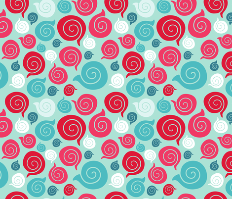 sea shell pattern fabric by kostolom3000 on Spoonflower - custom fabric
