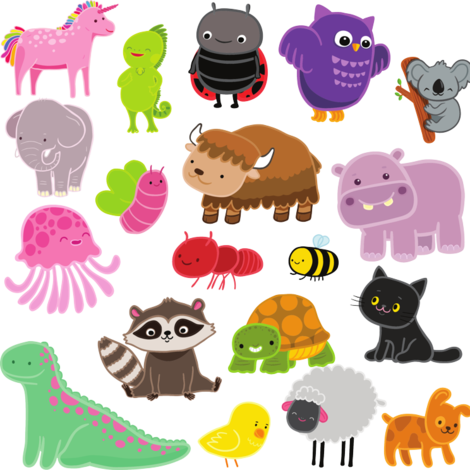 cute animals fabric by kostolom3000 on Spoonflower - custom fabric