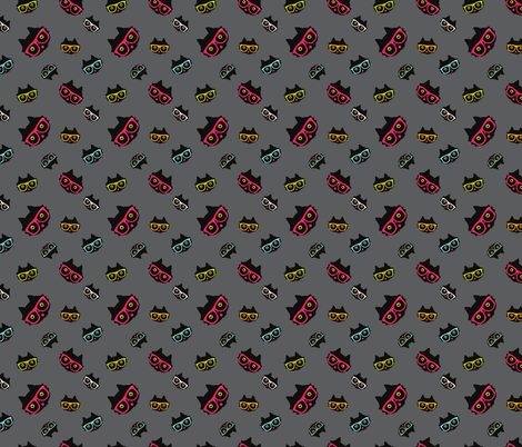 cat in glasses fabric by kostolom3000 on Spoonflower - custom fabric
