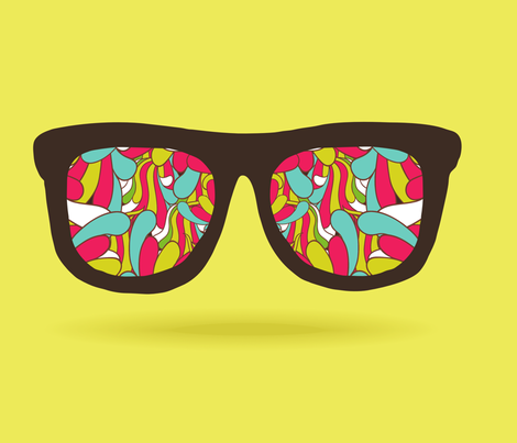 doodle pattern GLASSES fabric by kostolom3000 on Spoonflower - custom fabric