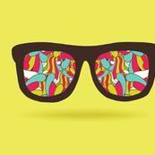 doodle pattern GLASSES