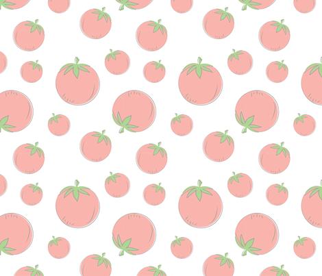Farmers Market {Tomato} fabric by printablegirl on Spoonflower - custom fabric