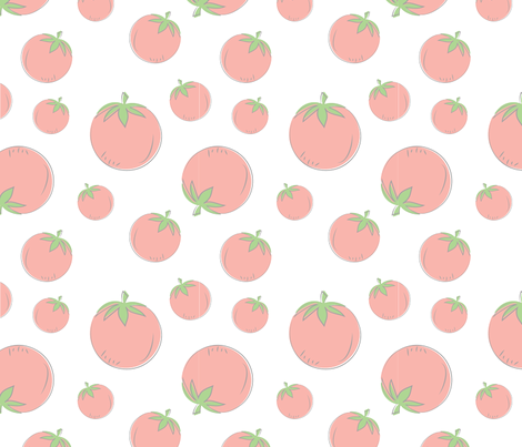 Farmers Market {Tomato} fabric by printablegirl on Spoonflower - custom fabric