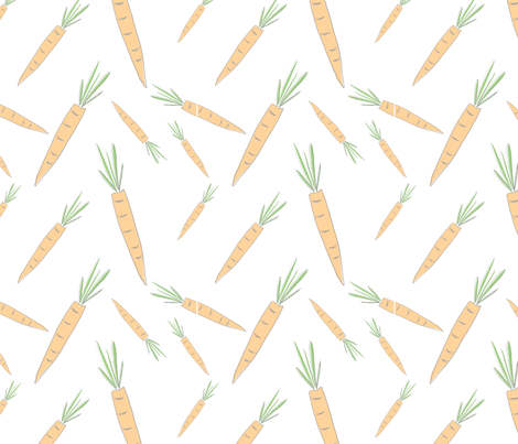 Farmers Market {Carrot} fabric by printablegirl on Spoonflower - custom fabric