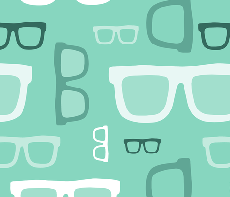 glasses pattern 2 fabric by kostolom3000 on Spoonflower - custom fabric