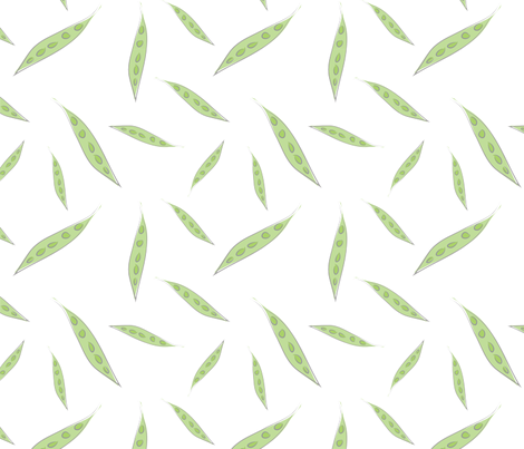 Farmers Market {Peas} fabric by printablegirl on Spoonflower - custom fabric