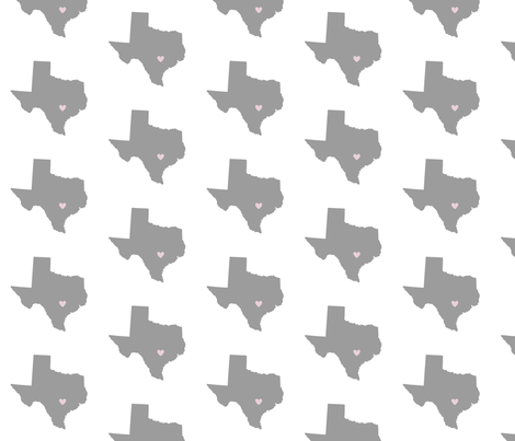 Cross Country {Texas} fabric by printablegirl on Spoonflower - custom fabric