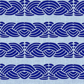 Faux Embroidery - Blue