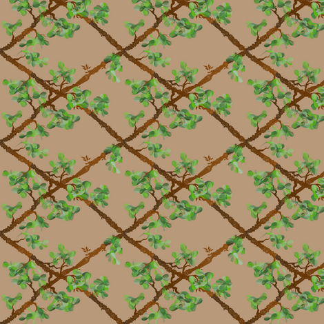 Trellis Vine fabric by ravynscache on Spoonflower - custom fabric