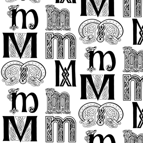 M (Celtic-ish) fabric by relative_of_otis on Spoonflower - custom fabric