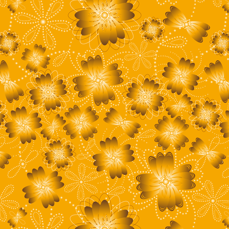 Amber Pearlblossoms fabric by jjtrends on Spoonflower - custom fabric