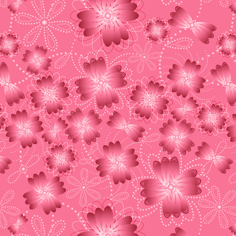 Crimson Pearlblossoms fabric by jjtrends on Spoonflower - custom fabric