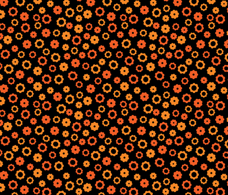 Evil Robot Gears (Orange) fabric by robyriker on Spoonflower - custom fabric