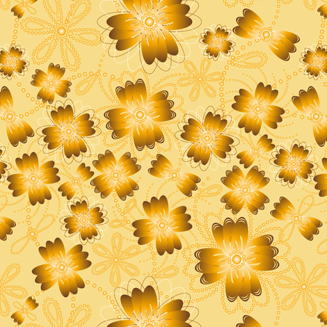 Amber Pearlblossoms (lt.) fabric by jjtrends on Spoonflower - custom fabric