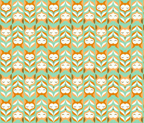 fox-leaves fabric by gaiamarfurt on Spoonflower - custom fabric