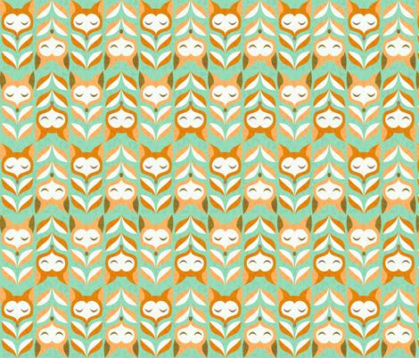 fox-leaves fabric by gaiamarfurt on Spoonflower - custom fabric