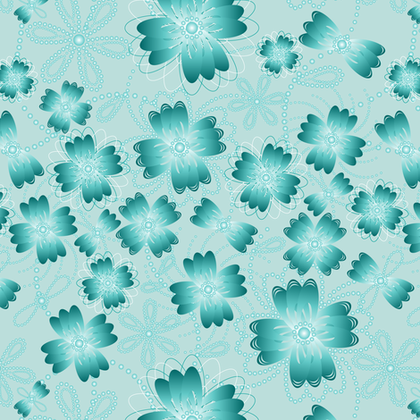Ocean Mist Pearlblossoms (lt.) fabric by jjtrends on Spoonflower - custom fabric