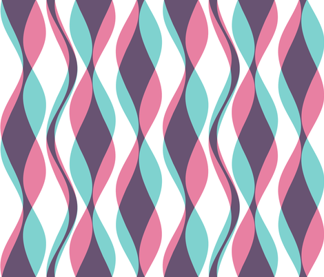 Cellophane Streamers - Bubblegum fabric by inscribed_here on Spoonflower - custom fabric