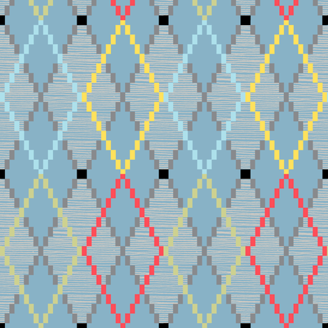 Penny Loafer (8-Bit Blue) fabric by pennycandy on Spoonflower - custom fabric