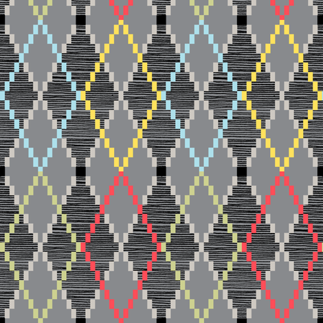 Penny Loafer (8-Bit Gray) fabric by pennycandy on Spoonflower - custom fabric