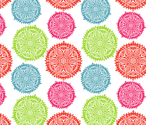 colorful napkins fabric by markovka on Spoonflower - custom fabric