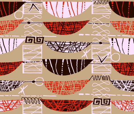 Mod Graphic Orange fabric by chicca_besso on Spoonflower - custom fabric