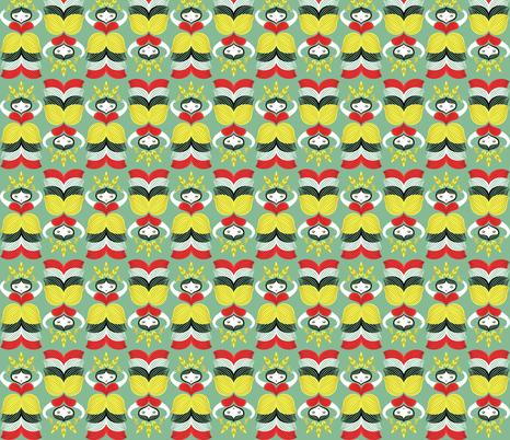 wheat-lady fabric by gaiamarfurt on Spoonflower - custom fabric