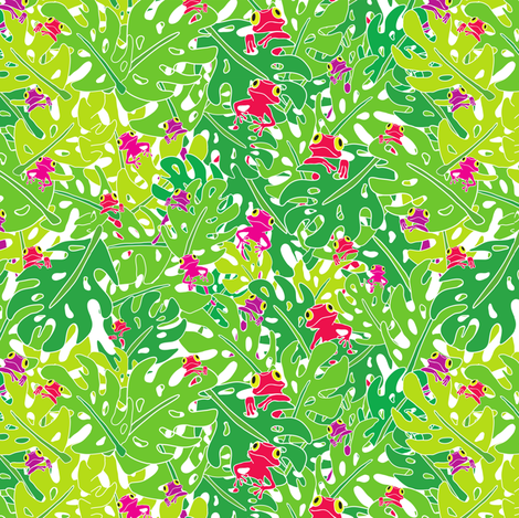 Pick-a-boo Frog fabric by suestrobel on Spoonflower - custom fabric