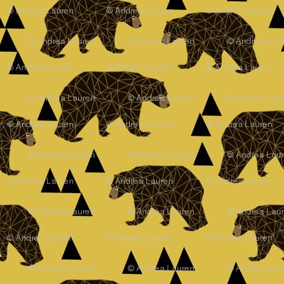 Geometric Bear - Mustard