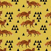 Geometric Fox - Mustard