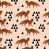 Geometric Fox - Blush