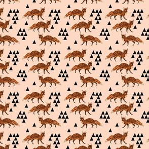 fox // blush nursery kids triangle baby fox woodland geo fox