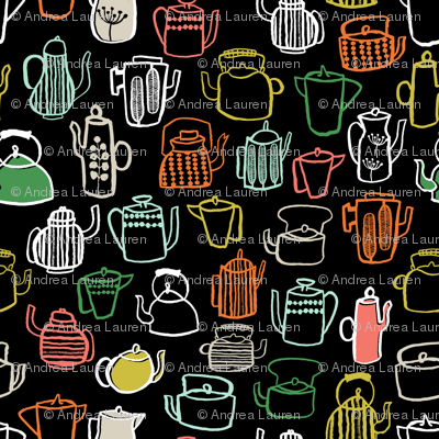 Teapots - Kitchen Series by Andrea Lauren