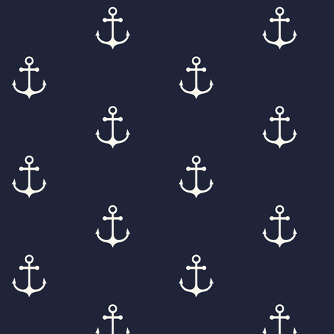 Anchor Navy  fabric by kimsa on Spoonflower - custom fabric