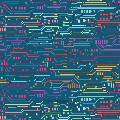 Small Circuits  fabric by kimsa on Spoonflower - custom fabric
